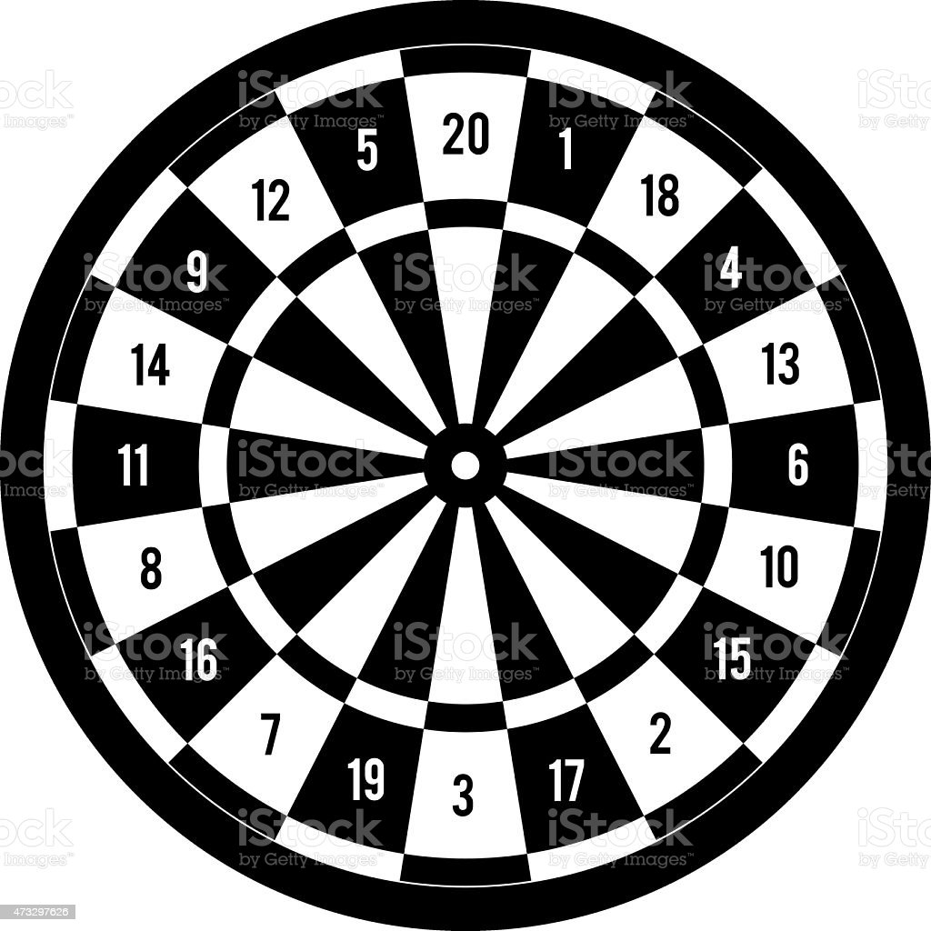 printable dart board clip art, vector images & illustrations - istock