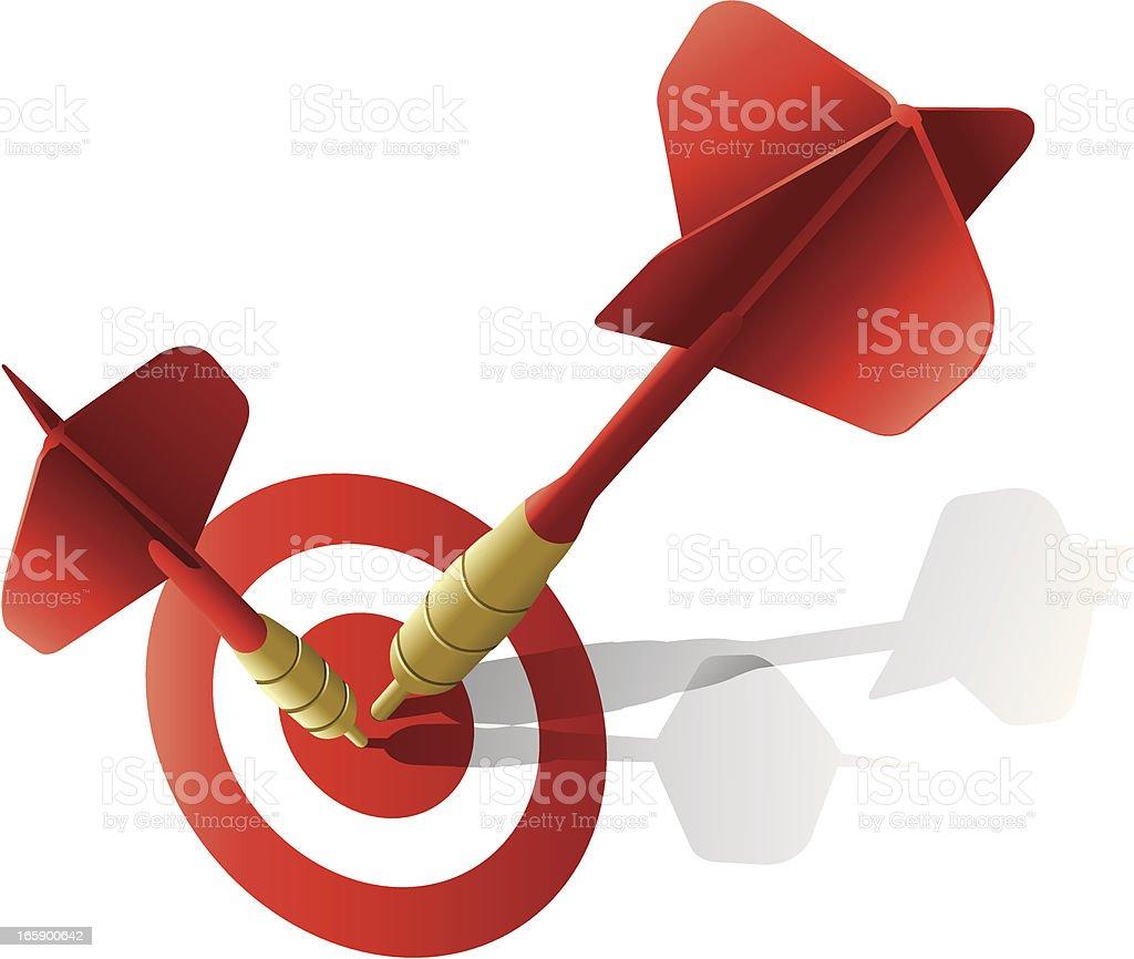 Darts & Target vector art illustration