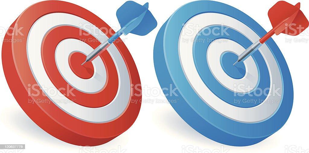 Darts targets. royalty-free stock vector art