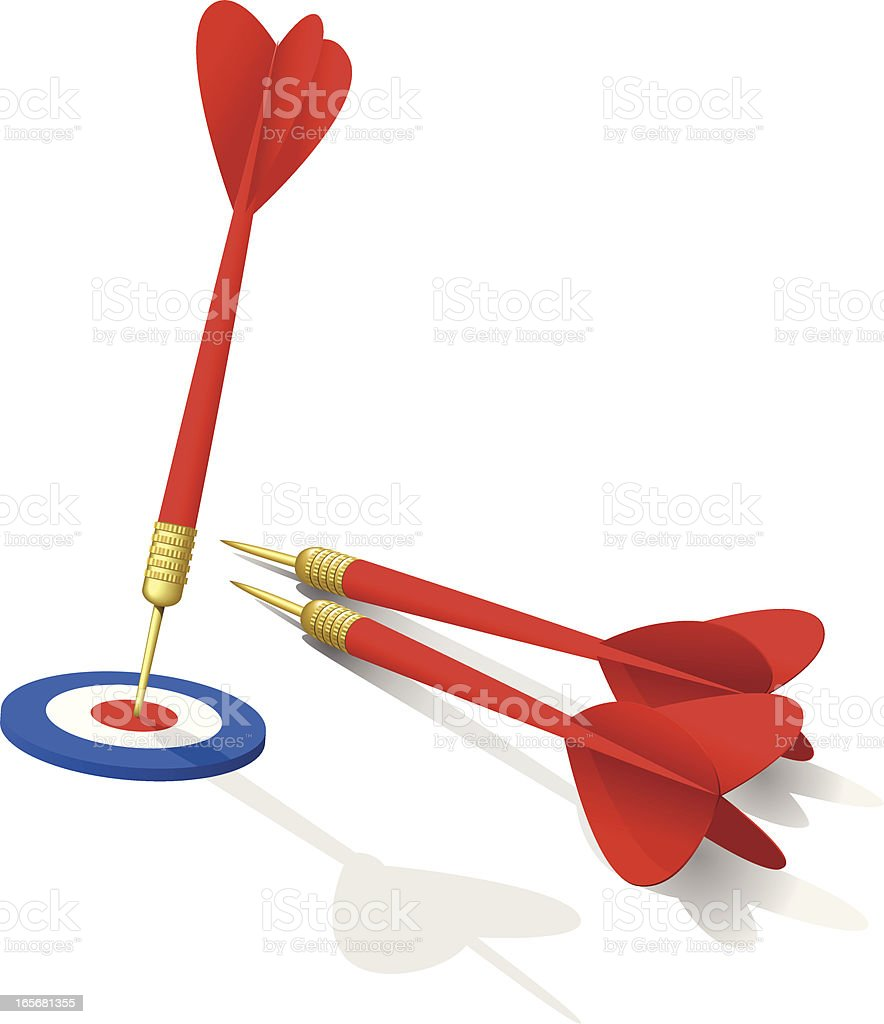 Darts royalty-free stock vector art