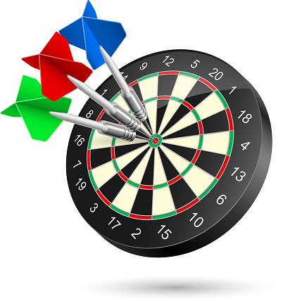 Darts Stock Illustration - Download Image Now