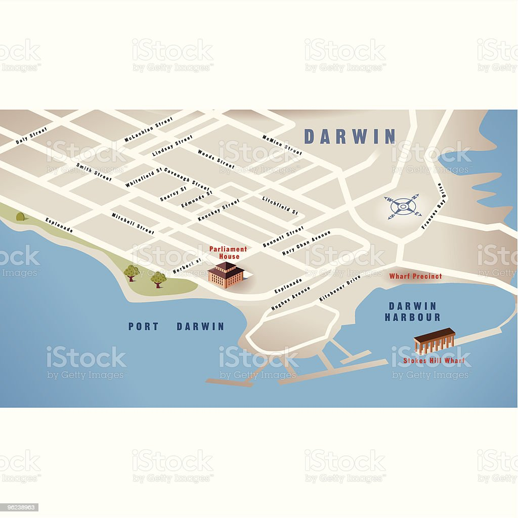 Australia Map Nt.Darwin Nt Australia Map Stock Illustration Download Image Now Istock