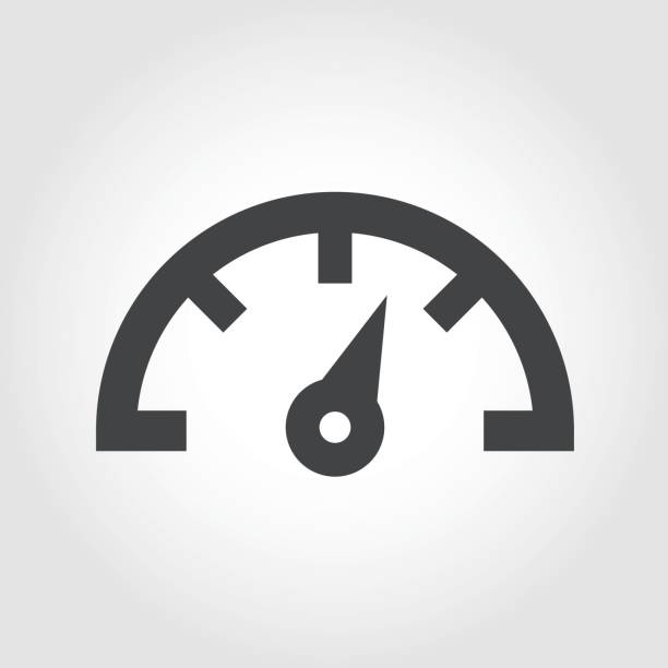 Dashboard Icon - Iconic Series Dashboard Icon gauge stock illustrations