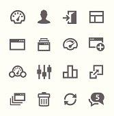 Dashboard icons set.