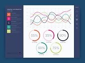 Dashboard infographic template with modern design