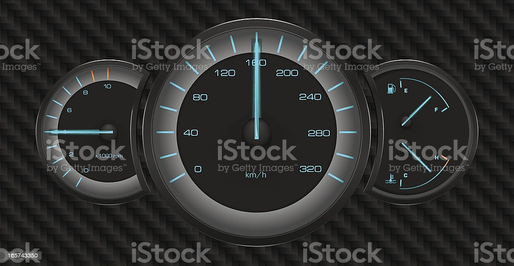 Dashboard royalty-free stock vector art