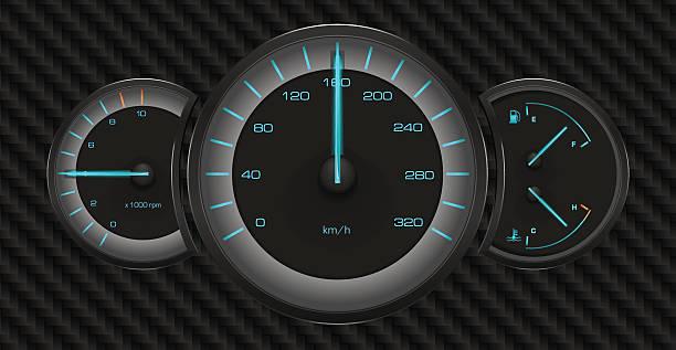 Car Dashboard Speedometer Tachometer Fuel Gauge Temperature Gauge - Car signs on dashboardcar dashboard signs speedometer tachometer fuel and temperature