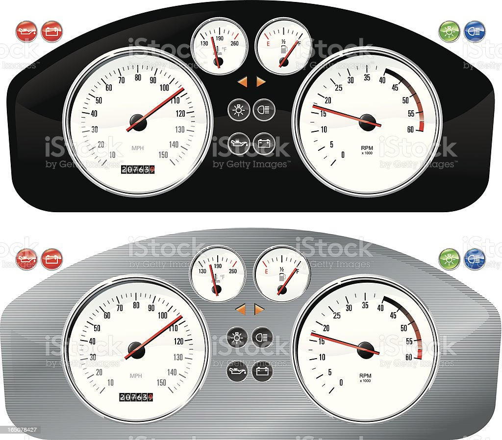 Dashboards royalty-free dashboards stock vector art & more images of car