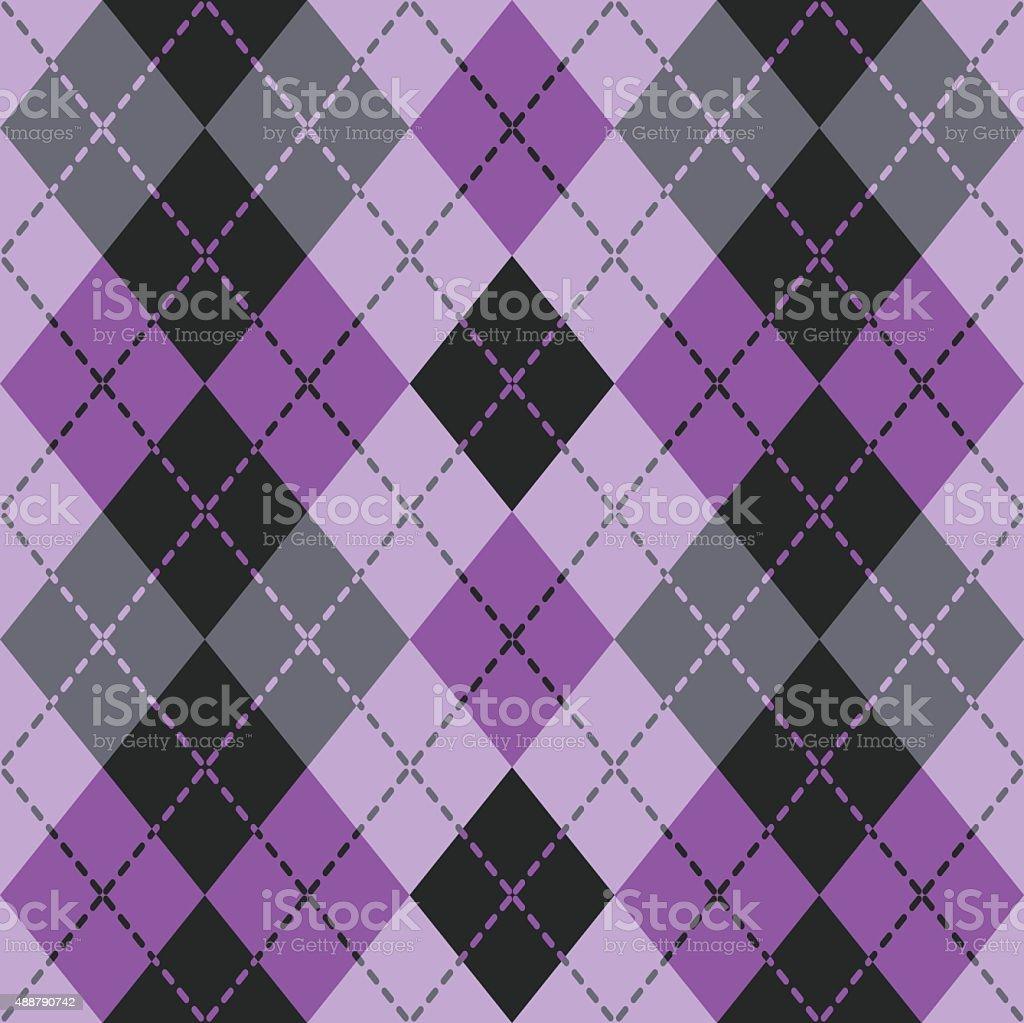 Dashed Argyle in Purple vector art illustration