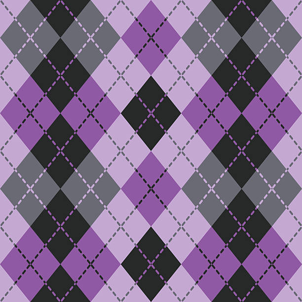 dashed argyle in purple - preppy fashion stock illustrations, clip art, cartoons, & icons