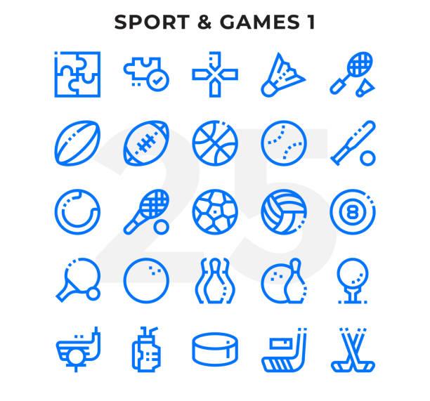 illustrations, cliparts, dessins animés et icônes de anéantis contour icons pack d'interface utilisateur. modifiables en course. icône de vecteur pixel parfait fine ligne définie pour l'application de web design et site web. - rugby