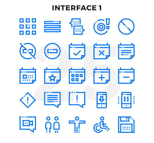 Dashed Outline Icons Pack for UI. Pixel perfect thin line vector icon set for web design and website application. Dashed Outline Icons Pack for UI. Pixel perfect thin line vector icon set for web design and website application. inconvenience stock illustrations