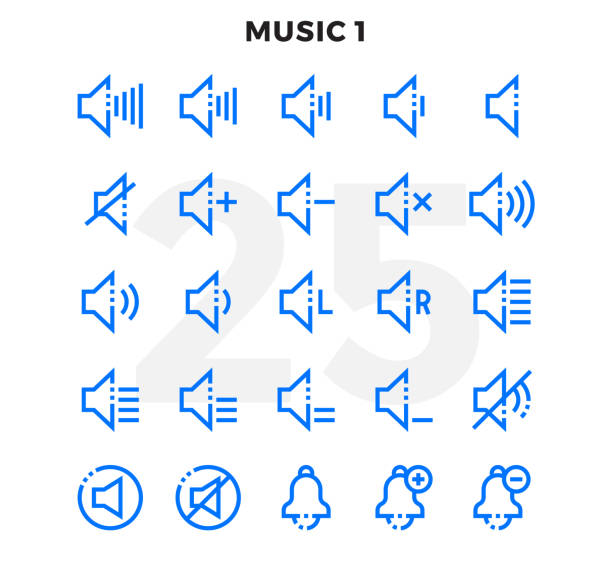 Dashed Outline Icons Pack for UI. Pixel perfect thin line vector icon set for web design and website application. vector art illustration
