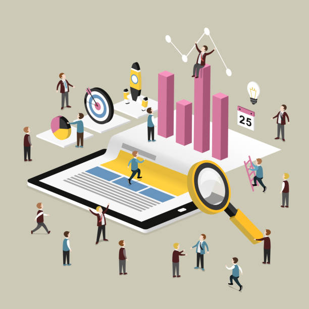 stockillustraties, clipart, cartoons en iconen met data analysis concept - 2015