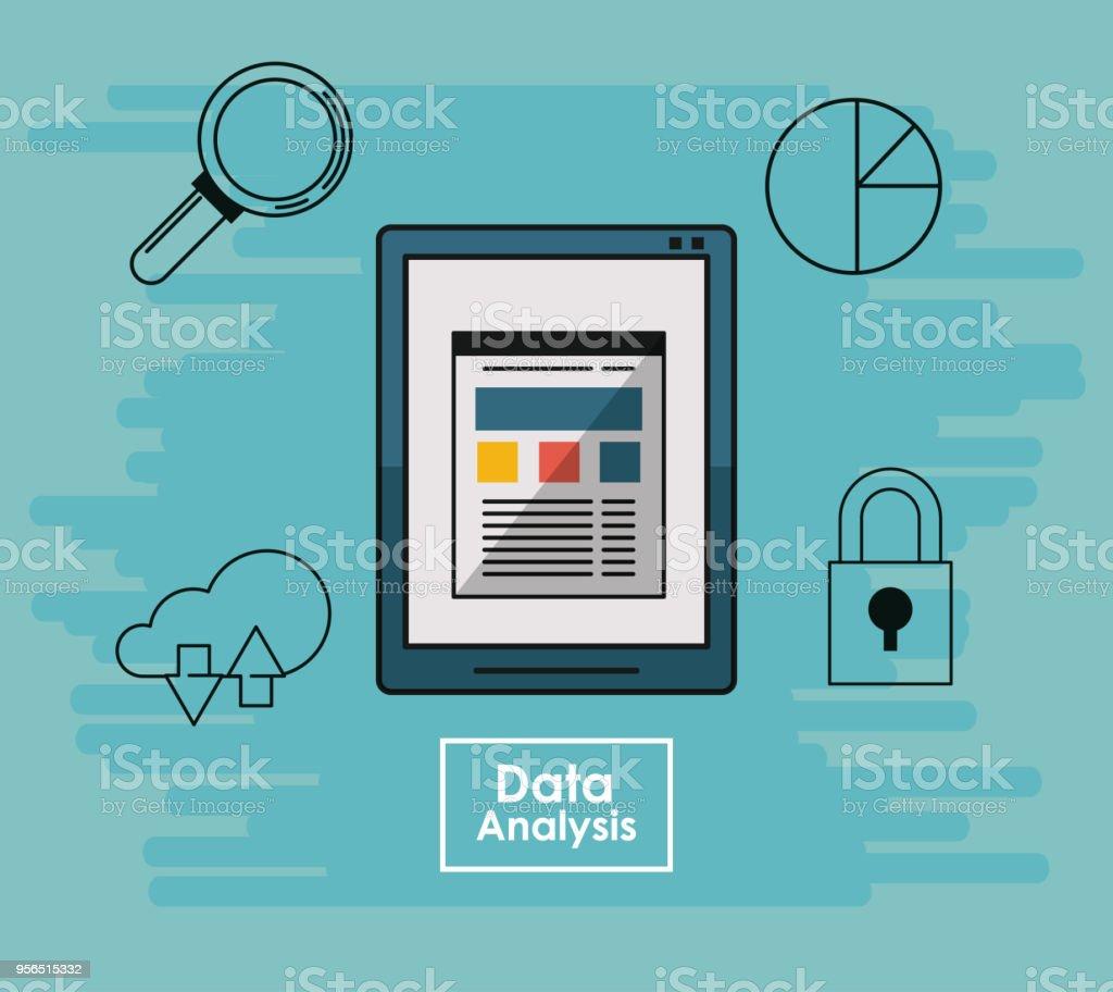 Daten Analyse Konzept  - Lizenzfrei Abstrakt Vektorgrafik