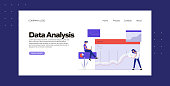 istock Data Analysis Concept Vector Illustration for Landing Page Template, Website Banner, Advertisement and Marketing Material, Online Advertising, Business Presentation etc. 1257761123