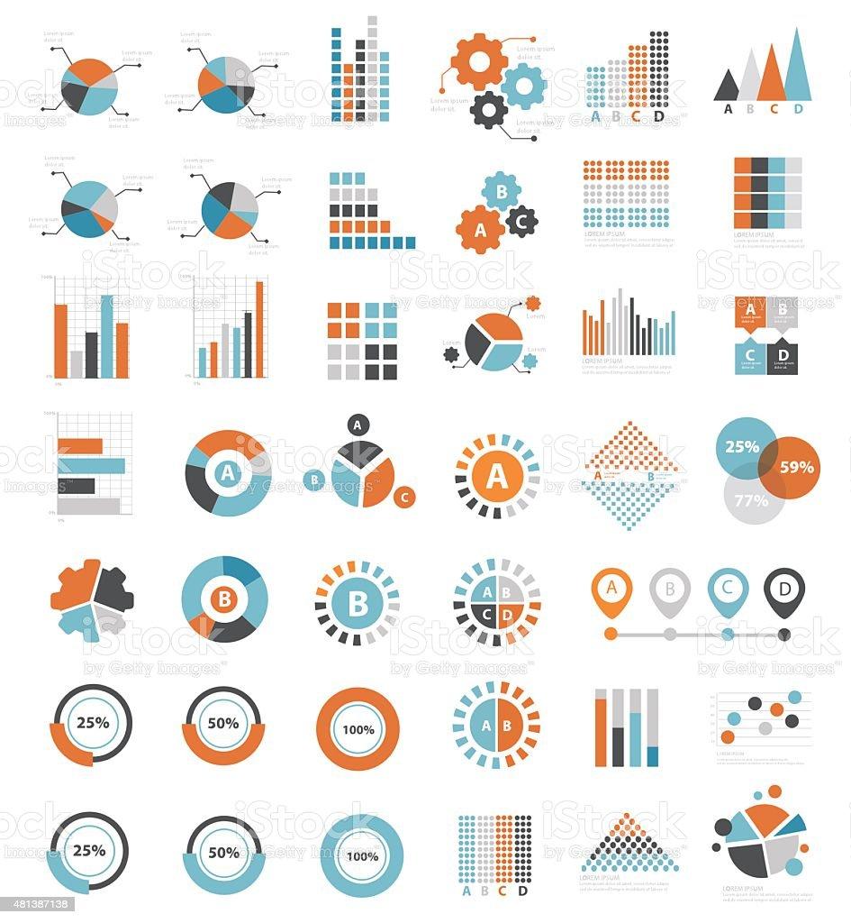 데이터 분석을 위한 디자인 정보 그래픽, 깨끗하다 벡터 벡터 아트 일러스트
