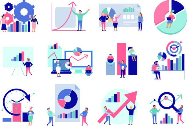 Datenanalysesatz – Vektorgrafik