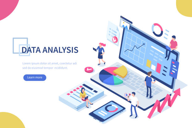 data analysis - research infographics stock illustrations