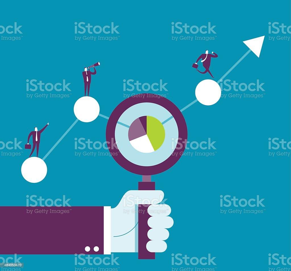 Data Analysis vector art illustration