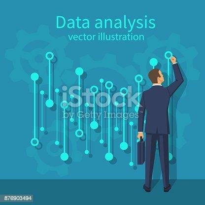 istock Data analysis. vector 876903494