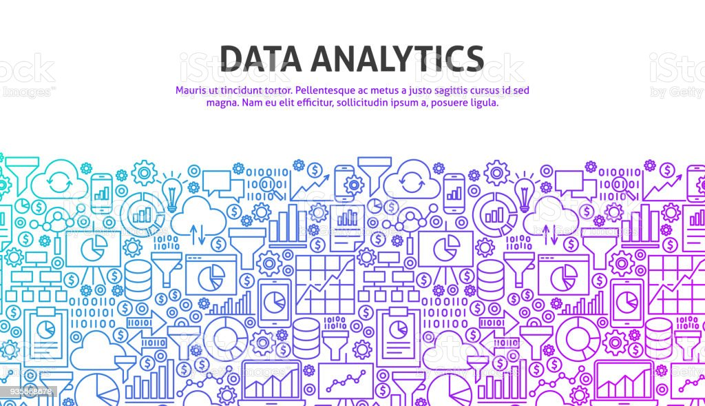 Data Analytics Concept vector art illustration