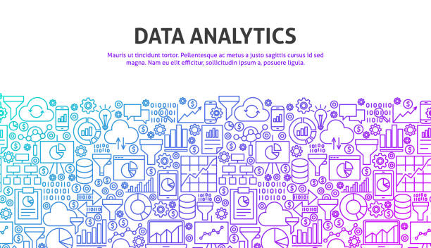 daten-analyse-konzept - it manager stock-grafiken, -clipart, -cartoons und -symbole