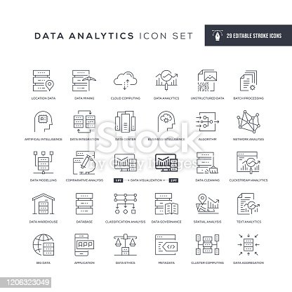 29 Data Analytics Icons - Editable Stroke - Easy to edit and customize - You can easily customize the stroke with