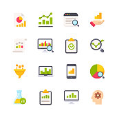 istock Data Analytics Flat Icons. Material Design Icons. Pixel Perfect. For Mobile and Web. Contains such icons as Data Analytics, Financial Report, Statistics, Economy, Bar Chart, Pie Chart. 1158835561