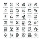 Data Analytics Icon Set -  Line Series