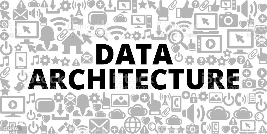 Data Architecture On Technology Internet Communications Vector Icon Background Royalty Free Stock Art