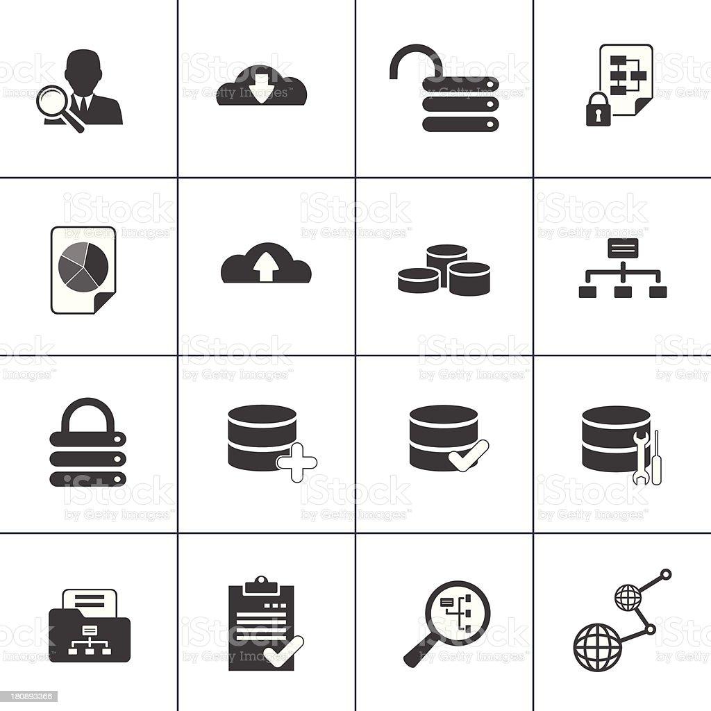 Data base analyse and development web icon royalty-free stock vector art