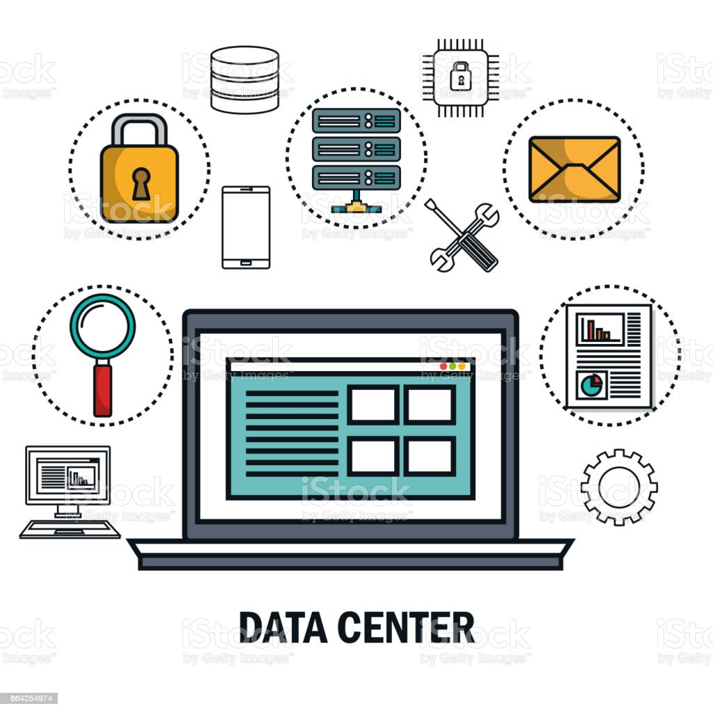 data center laptop digital virtual isolated royalty-free data center laptop digital virtual isolated stock vector art & more images of analyzing