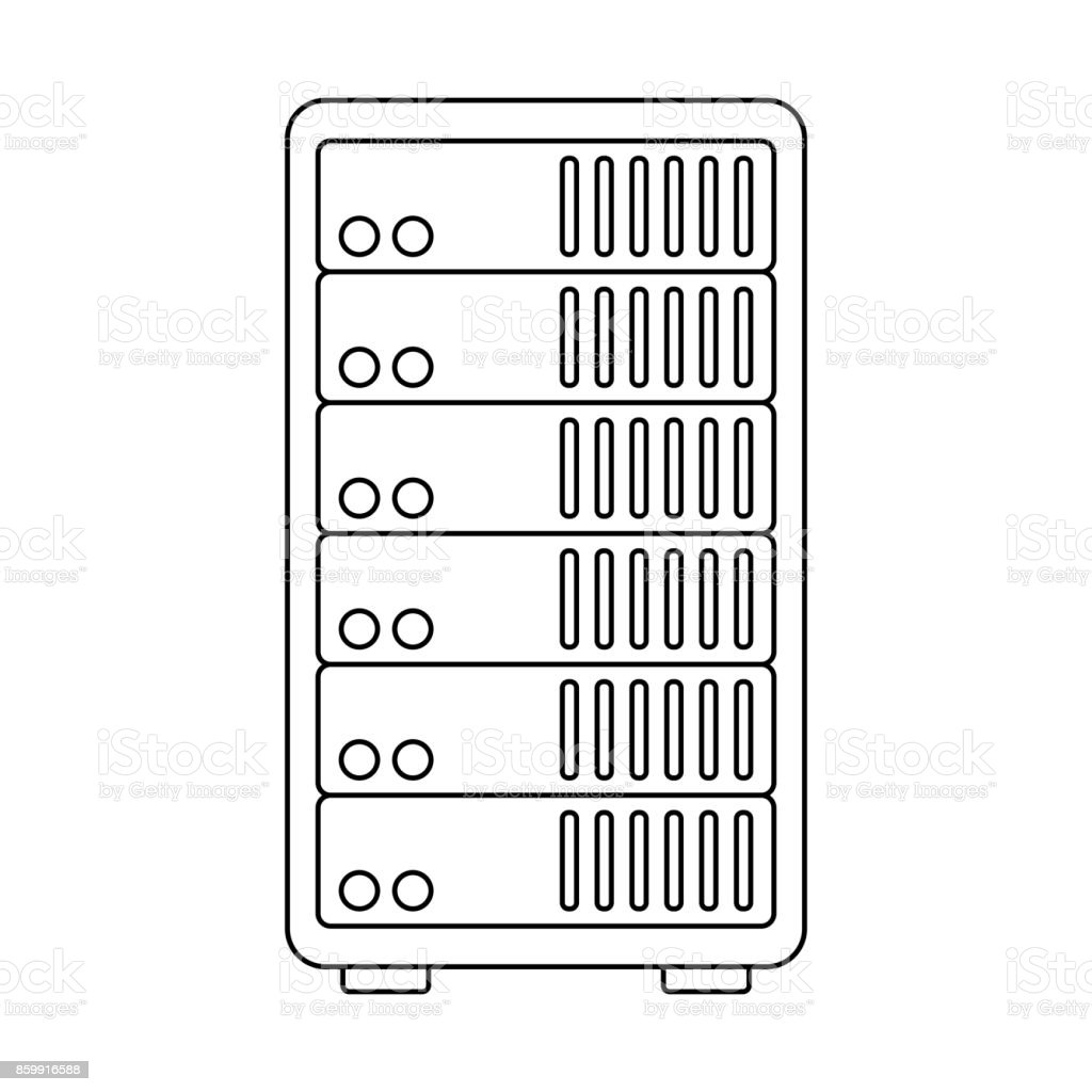 Data Center Server Icon Stock Vector Art & More Images of