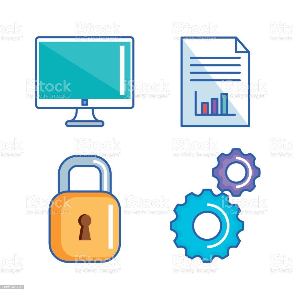 Data Center Server Interface Information Technology Stock ...