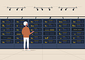 Data center, server room, young indian male character standing next to a hard drive rack, new technologies