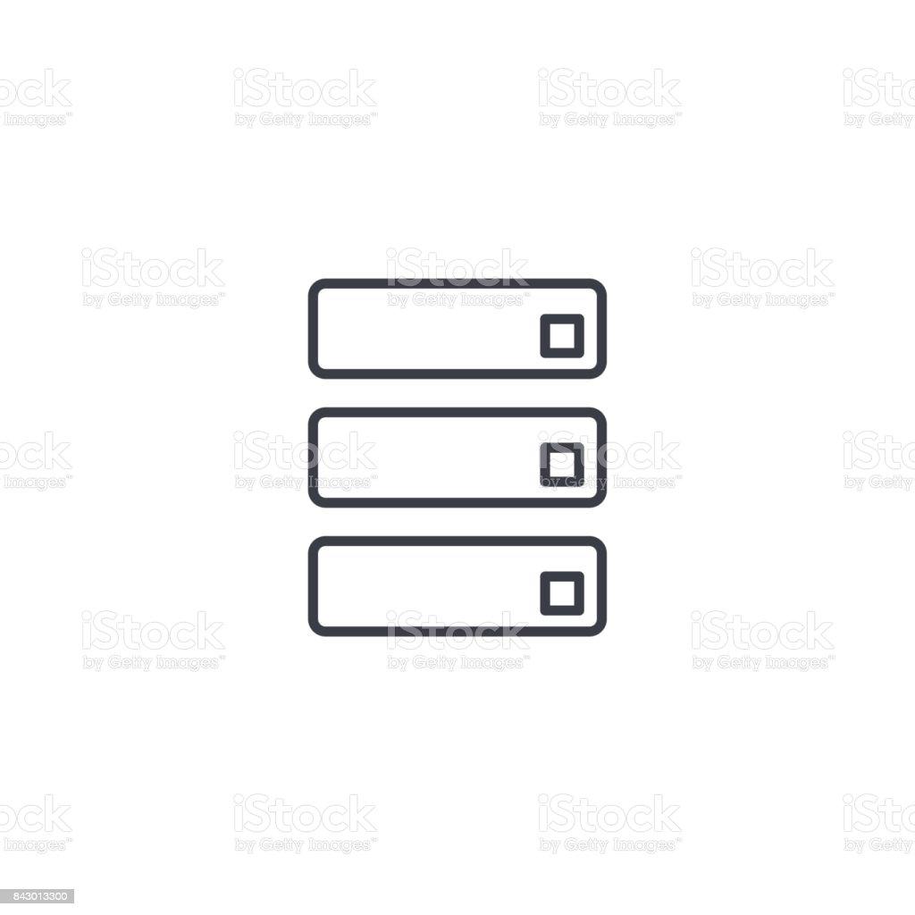 data center, server thin line icon. Linear vector symbol vector art illustration