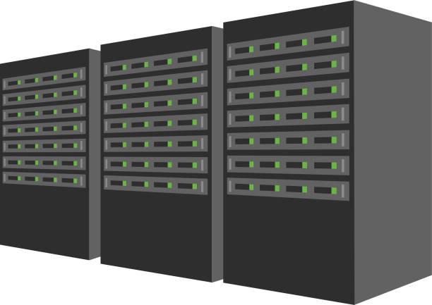 data center - computer server room stock illustrations