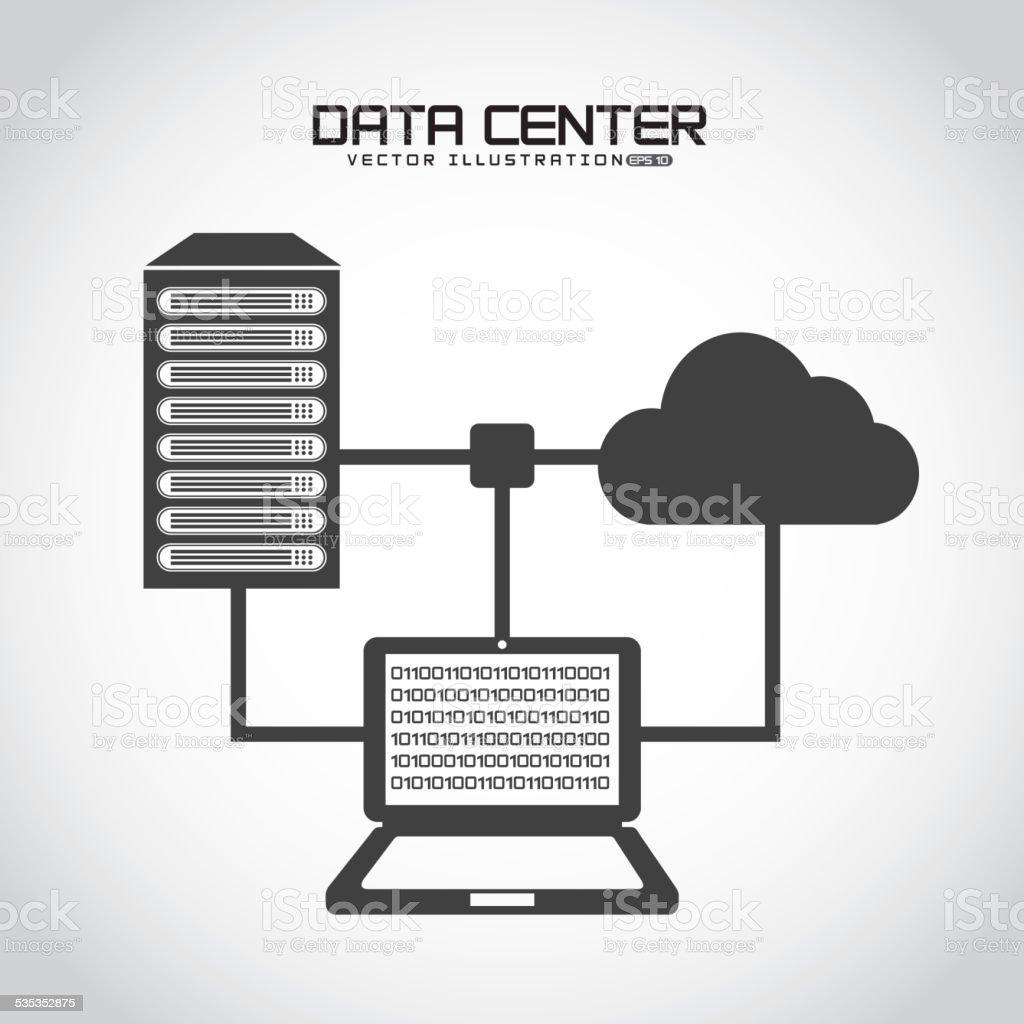 data center vector art illustration