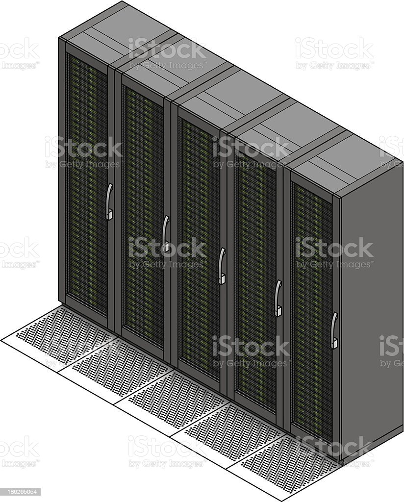 Data Centre Cabinets royalty-free stock vector art