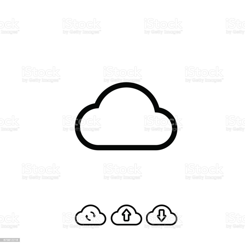 Data Cloud Icon Backup And Restore Sign Isolated On White