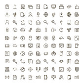 Data exchange icon set. Collection of high quality black outline logo for web site design and mobile apps. Vector illustration on a white background.