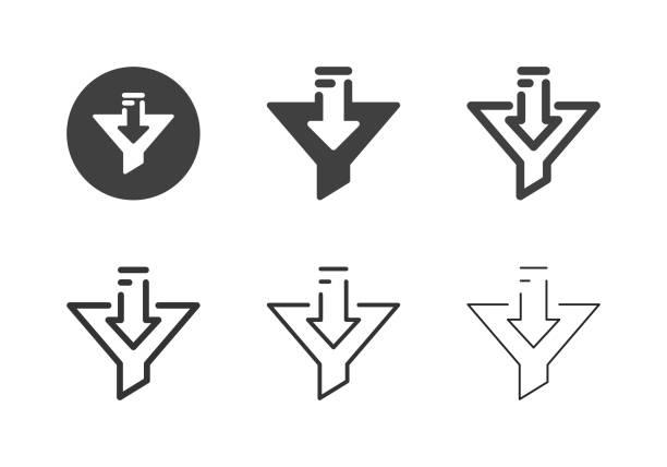 Data Filter Icons - Multi Series vector art illustration