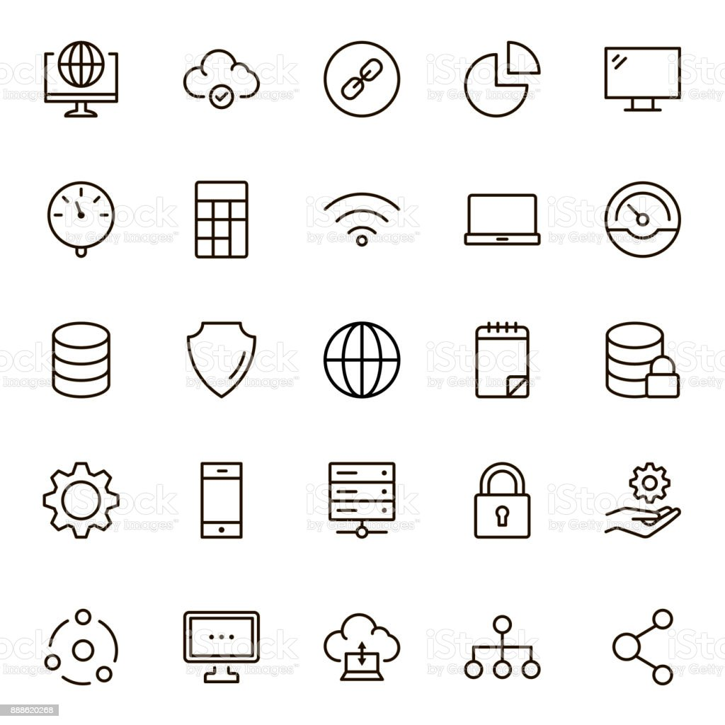 Data flat icon vector art illustration