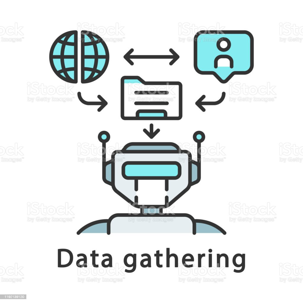 Data Gathering Color Icon Stock Illustration Download Image Now Istock