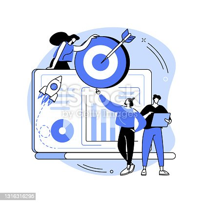 istock Data initiative abstract concept vector illustration. 1316316295