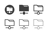 Data Link Icons Multi Series Vector EPS File.