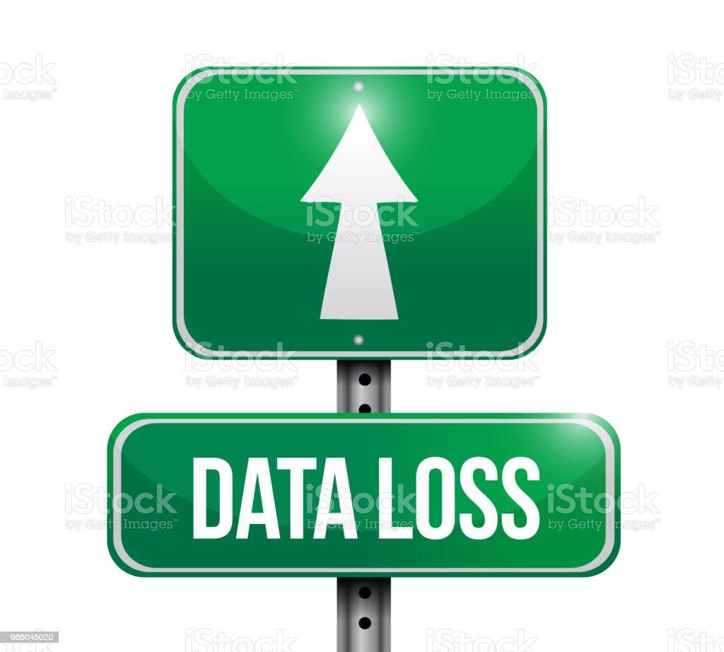 data loss street sign Illustration. Vector Illustration. - Royalty-free Azul arte vetorial