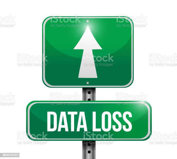 Data Loss Street Sign Illustration Vector Illustration - Arte vetorial de stock e mais imagens de Azul