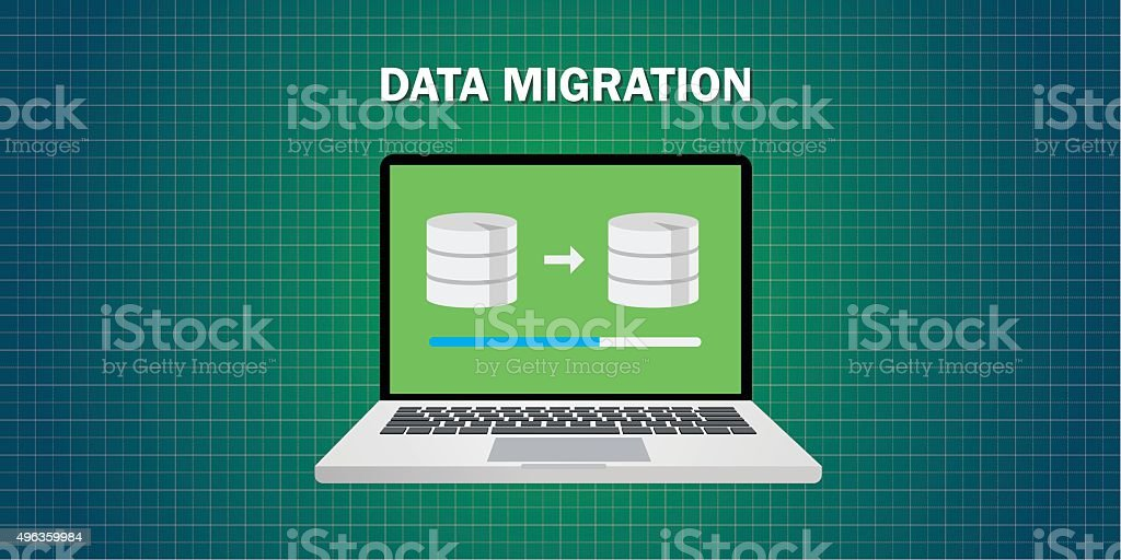 data migration in computer royalty-free data migration in computer stock vector art & more images of 2015